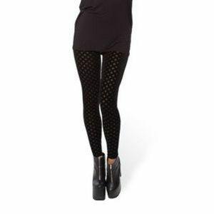 Burned Velvet Diamond Black Milk leggings S rare